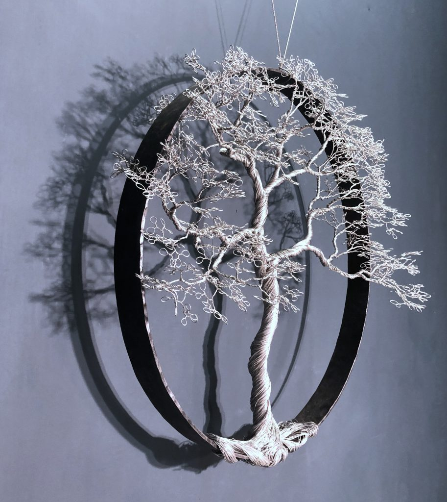 Wire Tree sculpture Keith Simpson