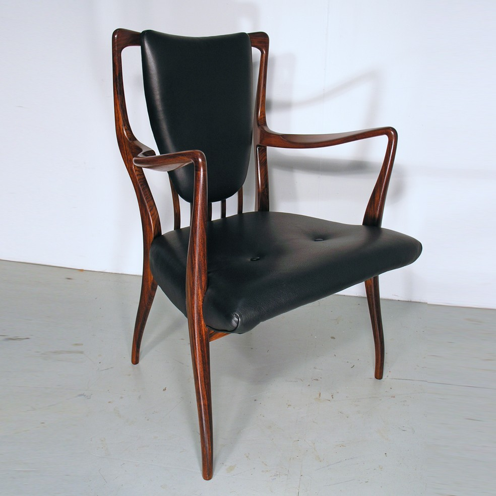 A J Milne rosewood chair