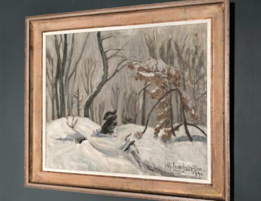 Swedish 1940s oil painting - Lundström