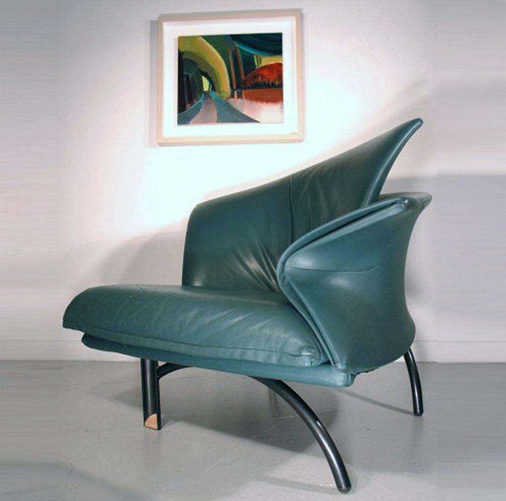 Giorgio Saporiti leather chair