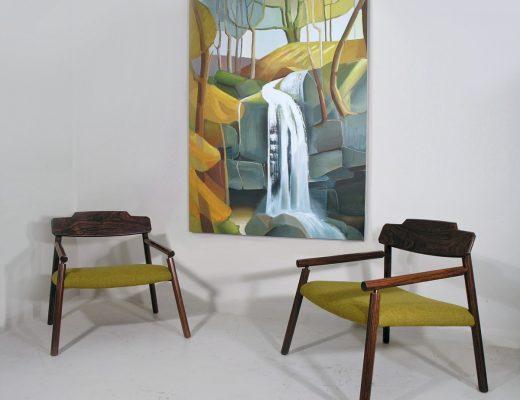 Italian rosewood armchairs